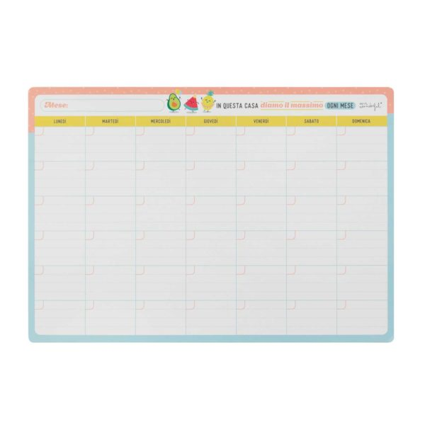 Planner mensile tipo lavagnetta magnetica cover - Magnetic monthly planner