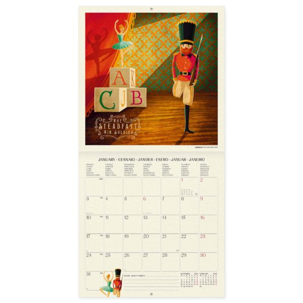 Legami Once Upon A Time Kalender 2 • Once Upon A Time Wandkalender 2022 – 18 x 18 cm